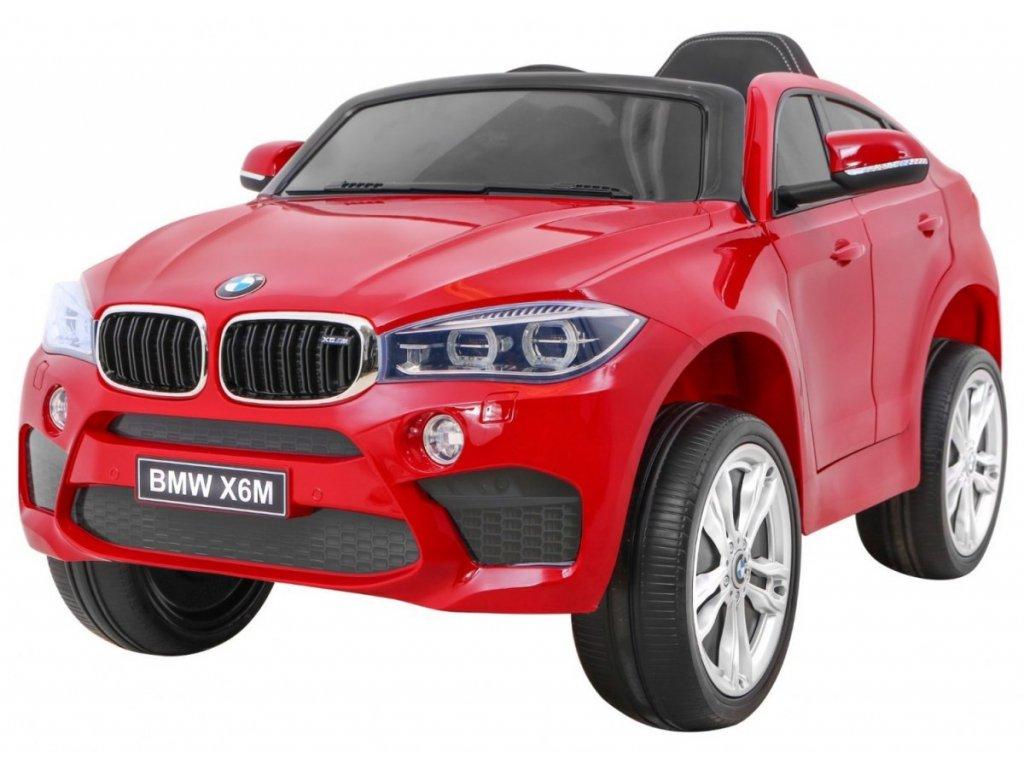 Elektrické autíčko BMW X6M lakované červené
