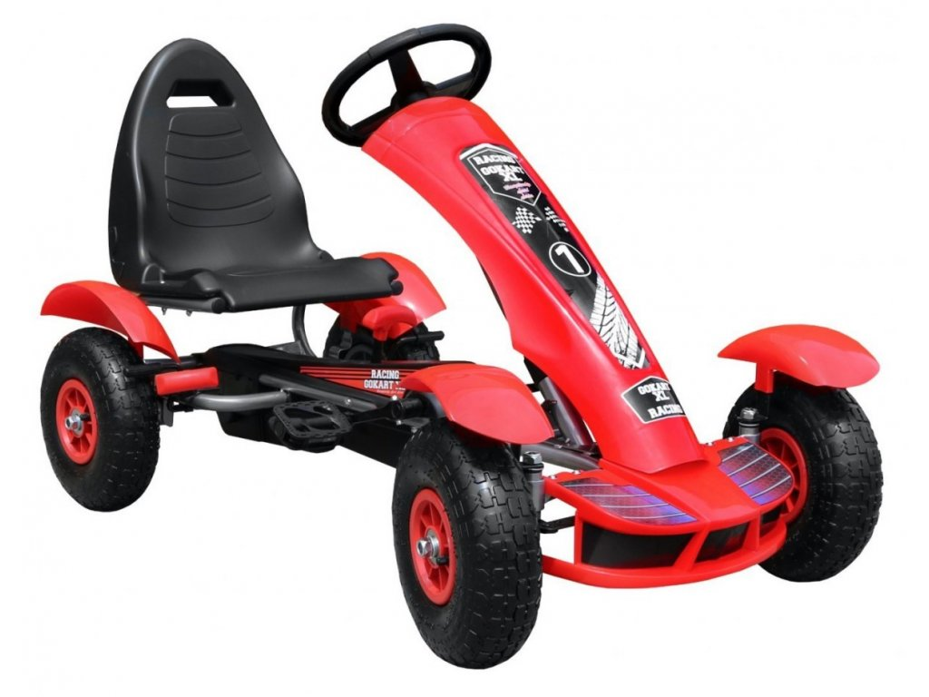 Dětská šlapací motokára formule červená