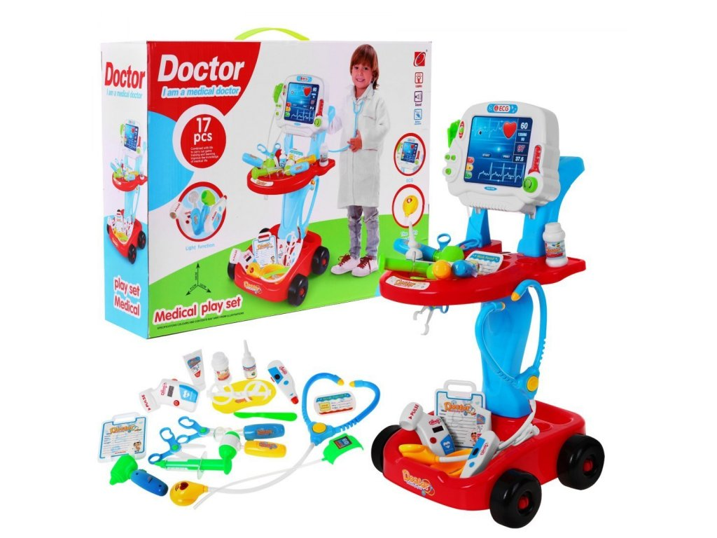 Malý lékařský vozík EKG Doctor 1
