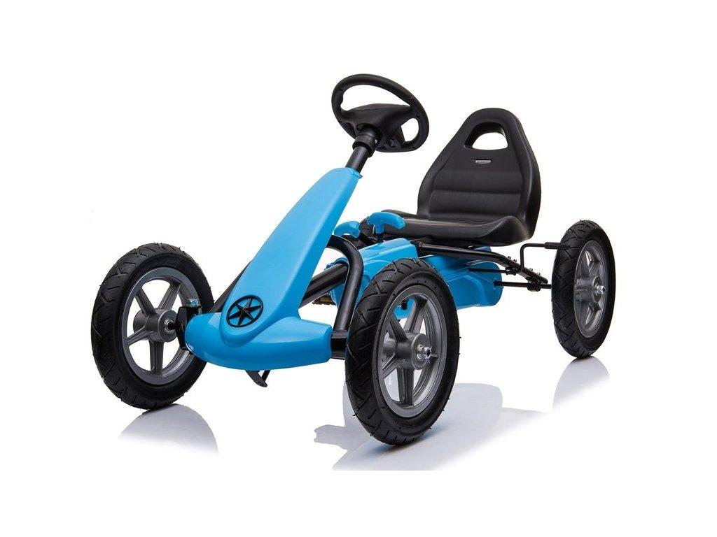 šlapací motokára modrá 2