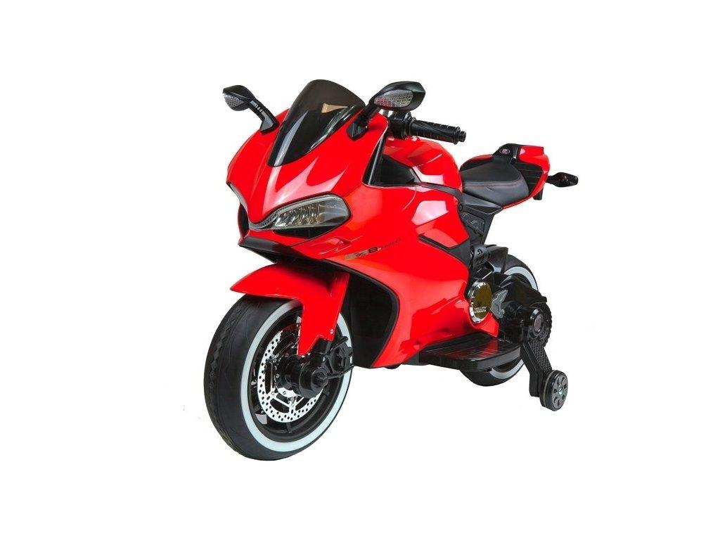 Dětská elektrická motorka SX1628 červená 1