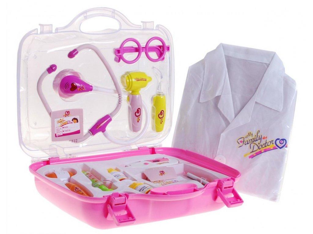 Lekářský kufřík pro malého doktora růžový 1