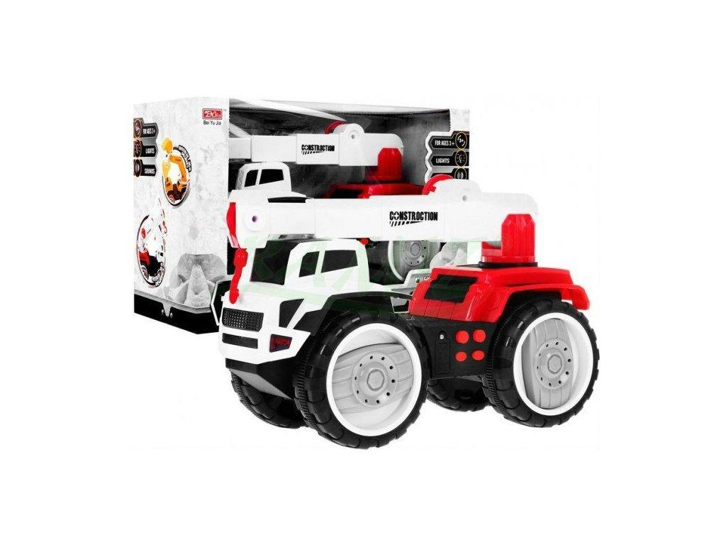 Velké nákladní auto se setrvačníkem a zvuky