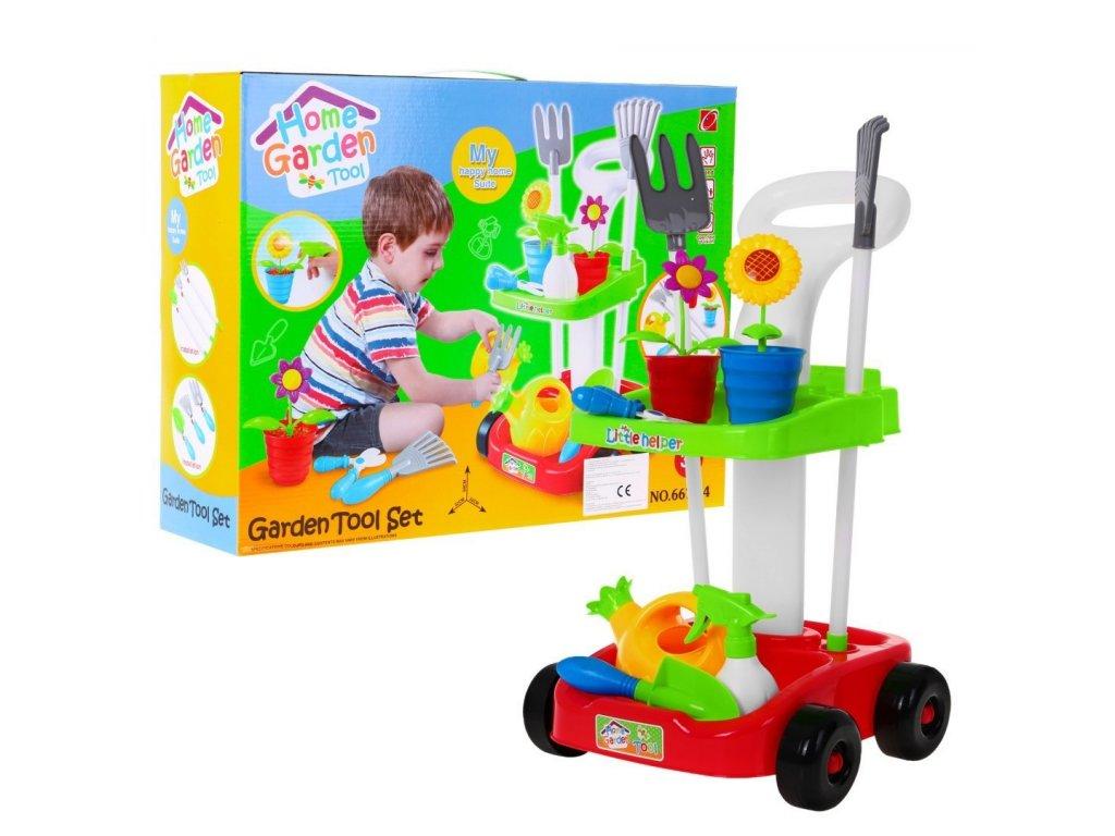 Zahradní nářadní set s vozíkem