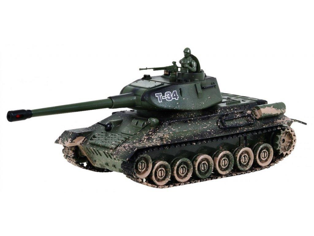 Velký tank T34 versus Bunkr 2V1