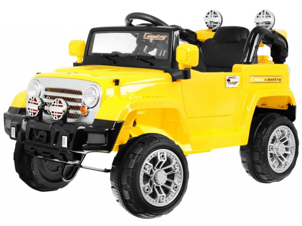 Elektrické autíčko Jeep žluté