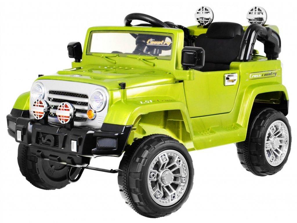 Elektrické autíčko Jeep zelené