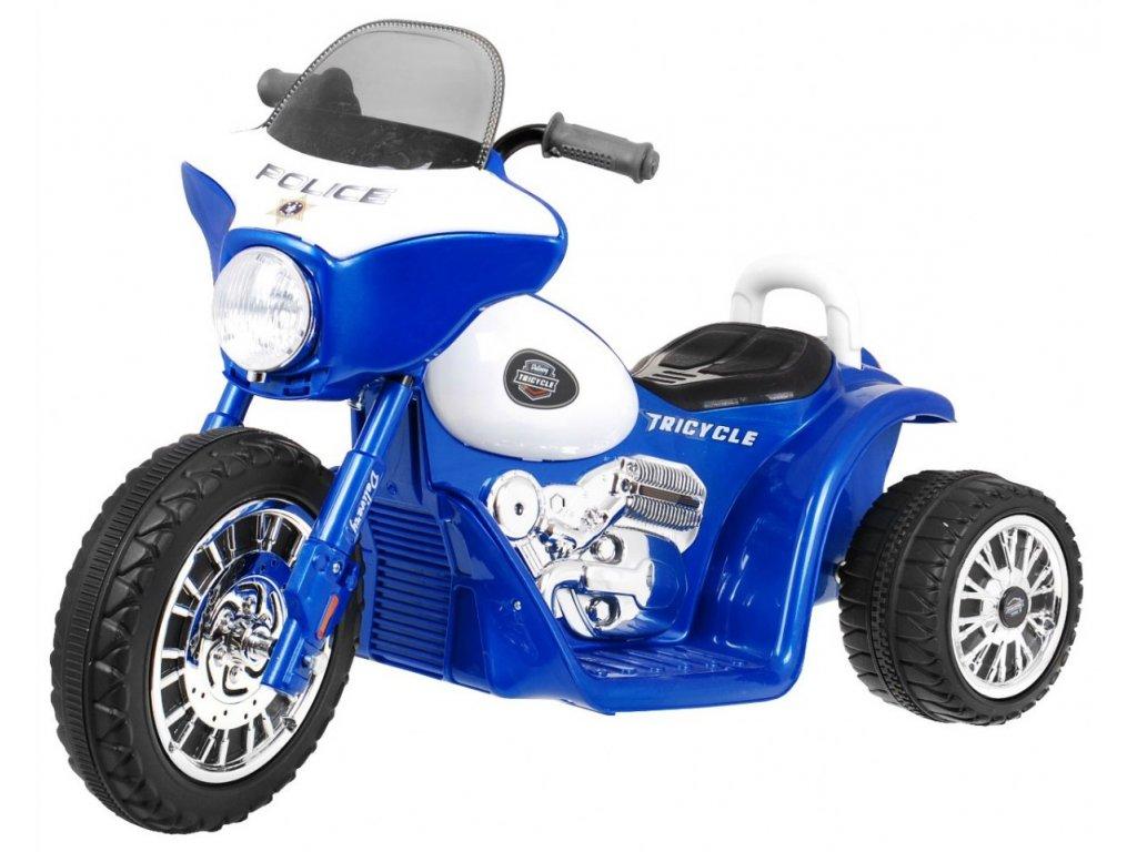Dětská elektrická motorka modrá