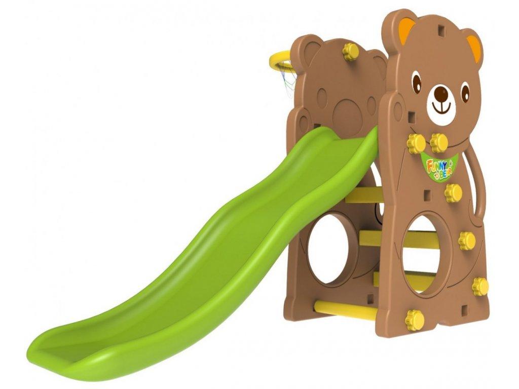 Dětská skluzavka 2v1 medvěd