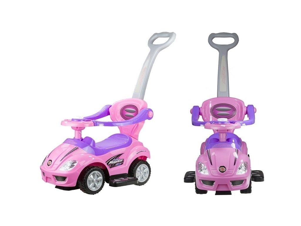 Dětské hrající vozítko 3v1 růžové