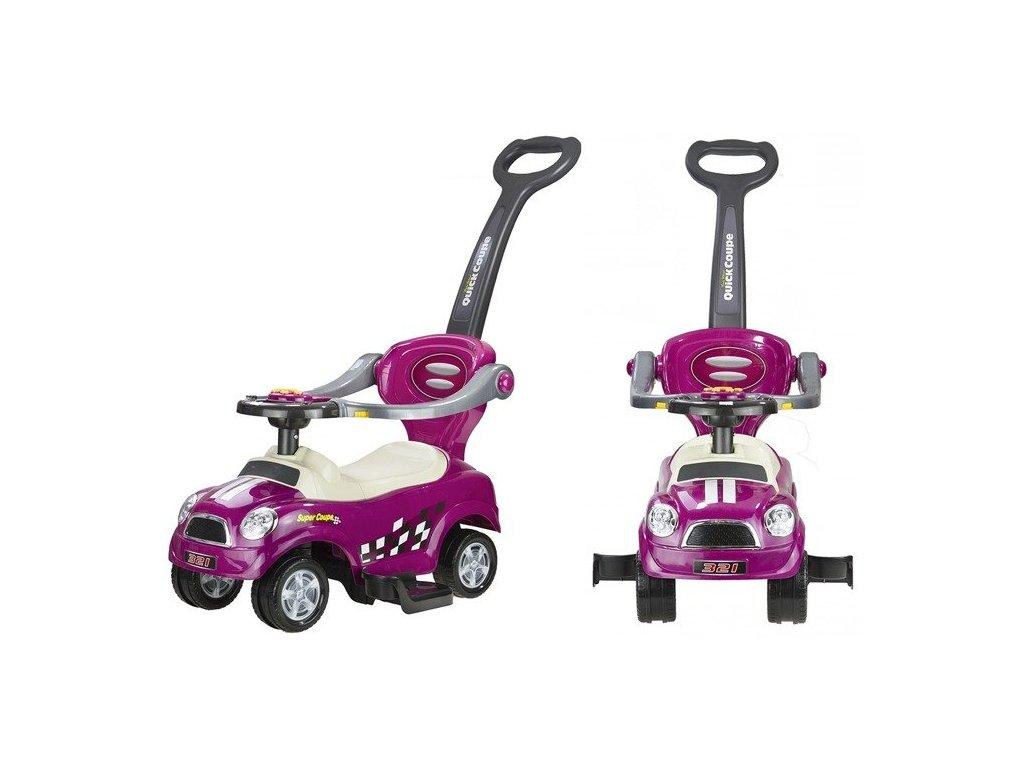 Dětské hrající vozítko coupe fialové