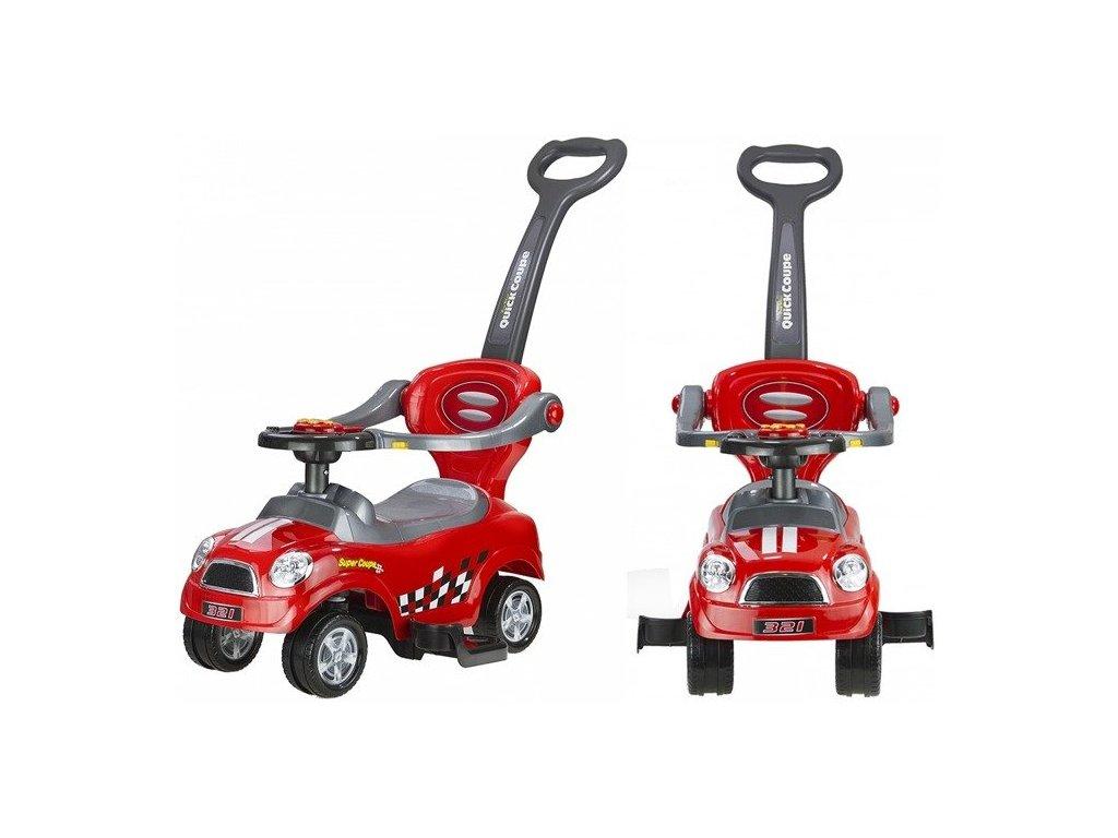 Dětské hrající vozítko coupe červené