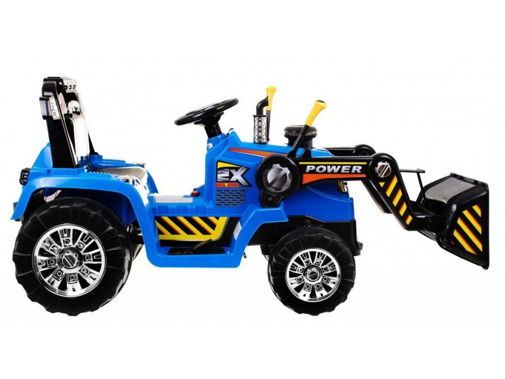Dětský elektrický traktor 2x45W modrý