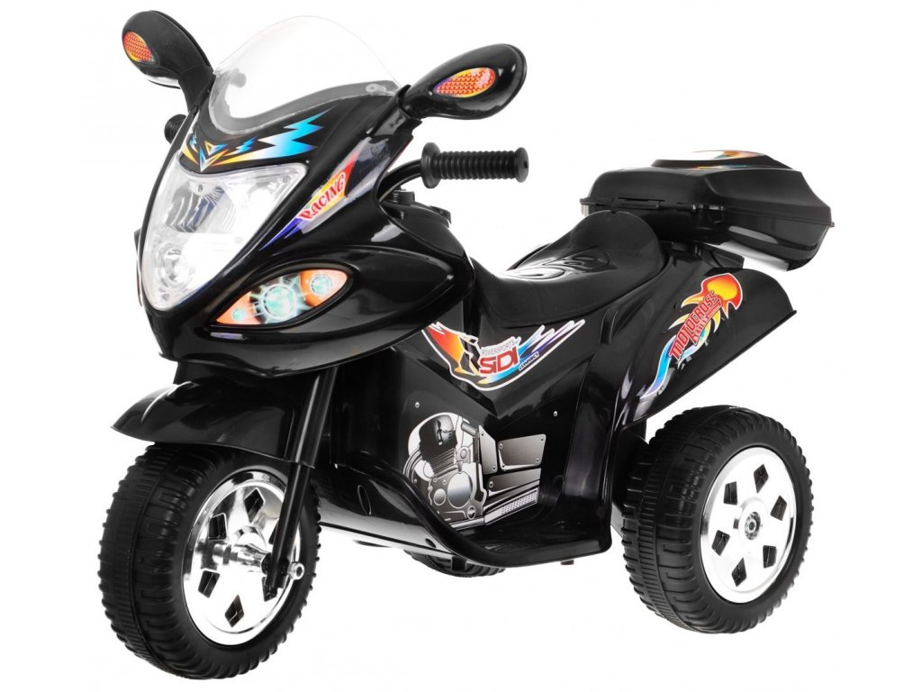 Dětská elektrická motorka skútr černý