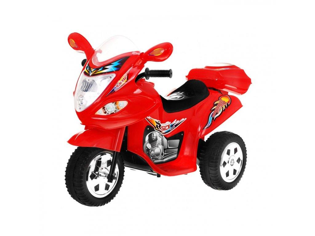 Dětská elektrická motorka skútr červený