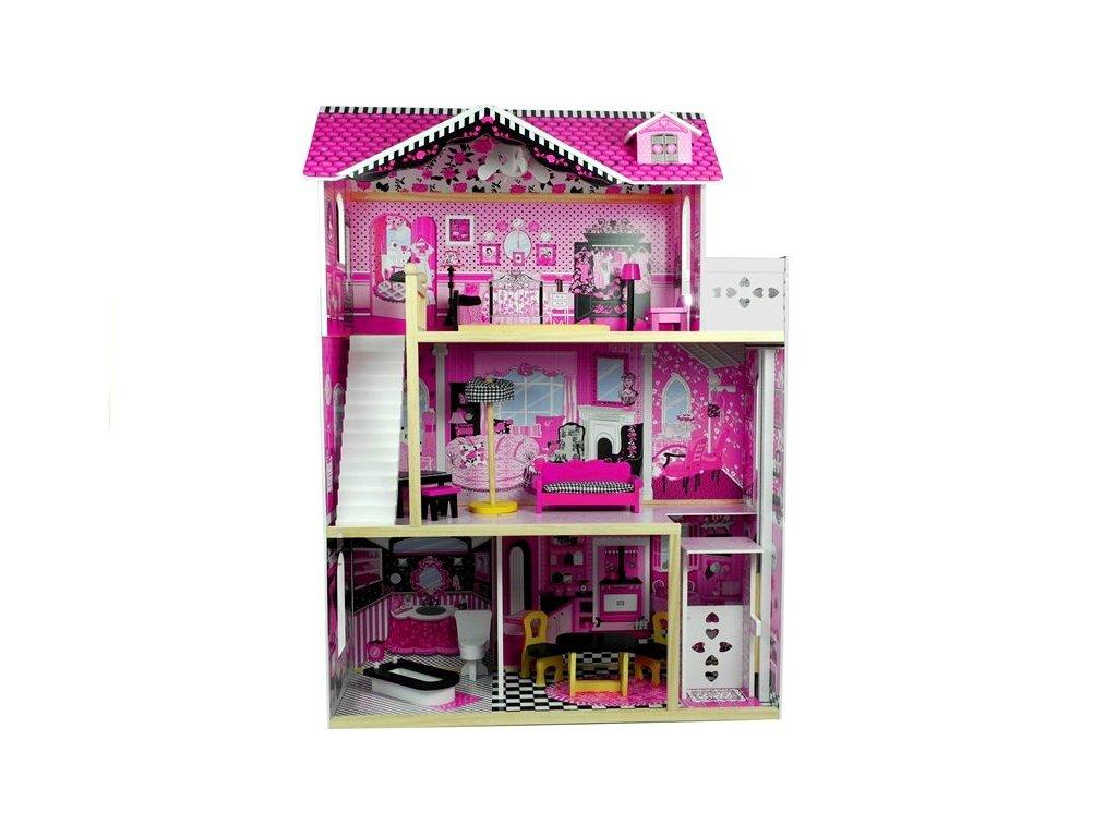 Velký dřevěný domeček pro panenky 121cm