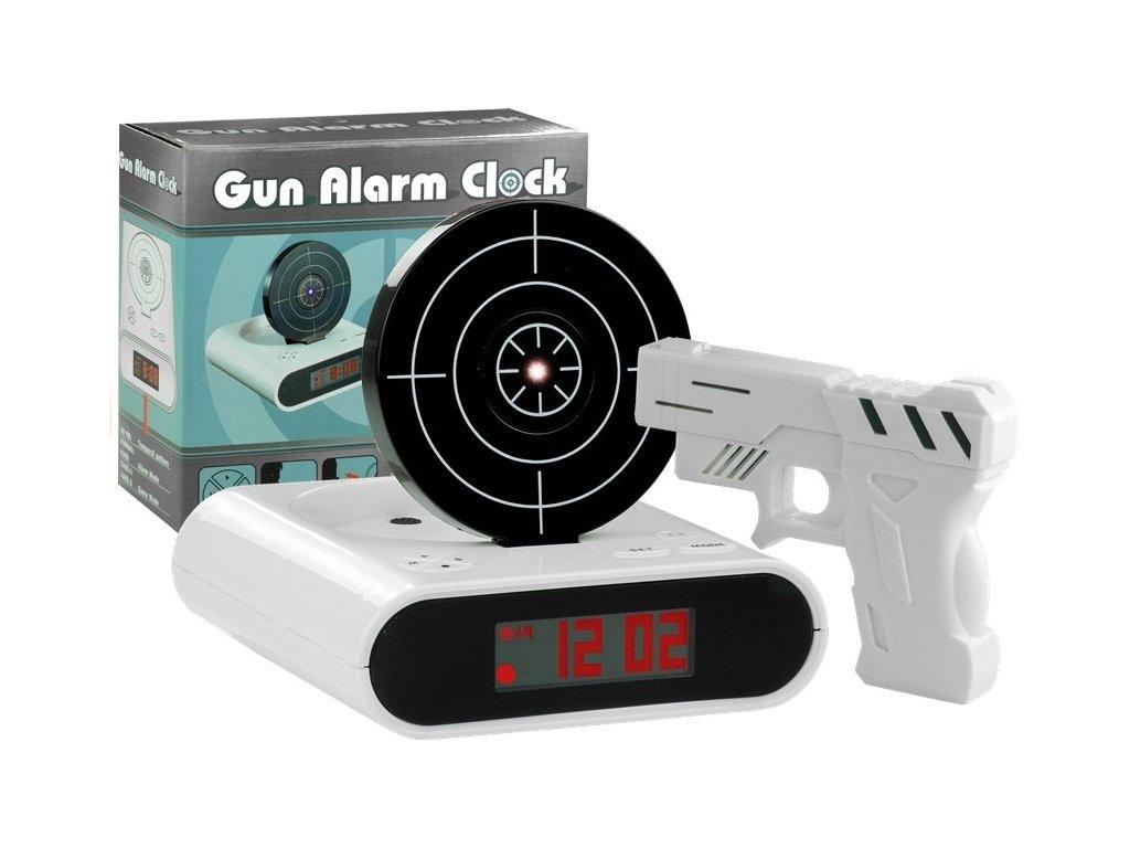 Elektronický budík - laserová zbraň se štítem