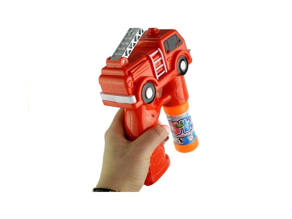 Červená zbraň pro mýdlové bubliny - hasiči