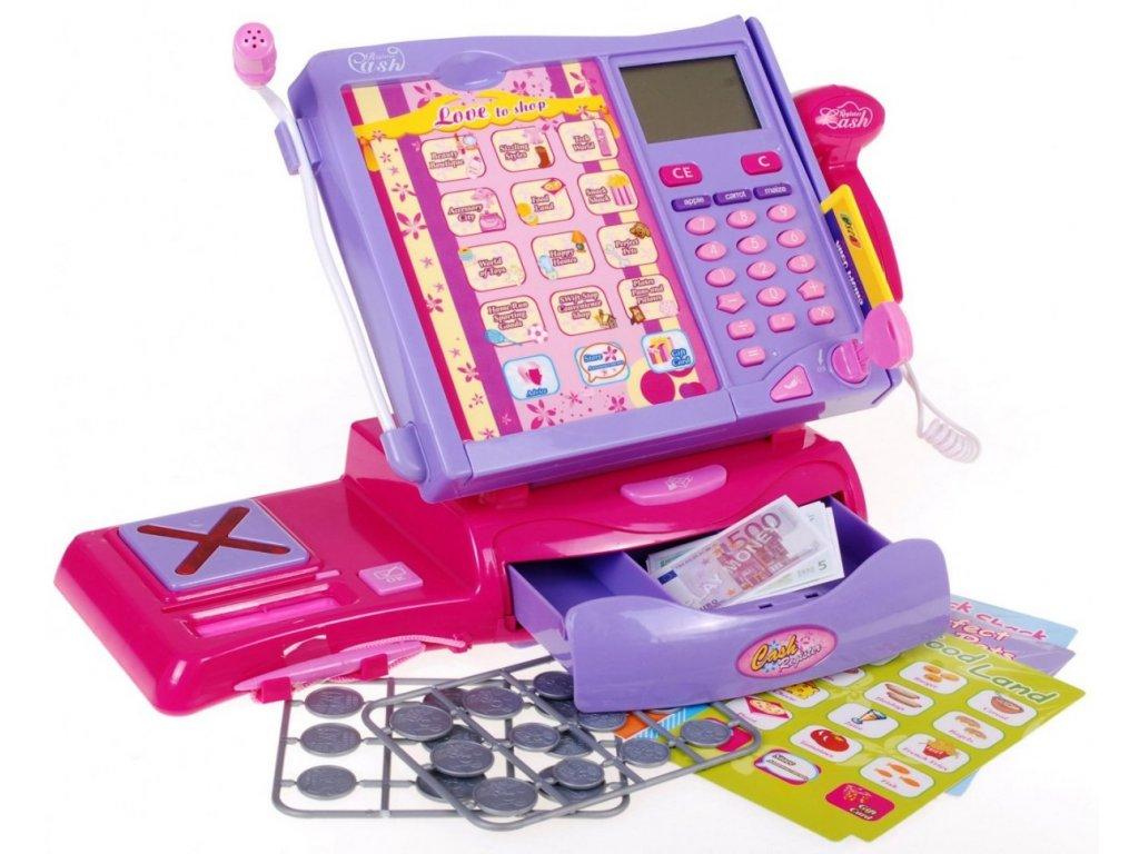 Dětská elektronická dotyková pokladna + váha 32131