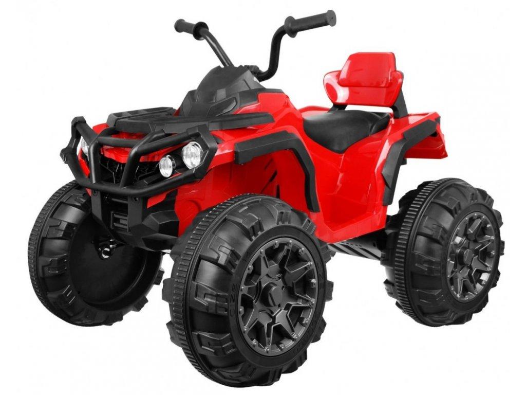 Elektrická čtyřkolka ATV s ovládačem, EVA kola červená