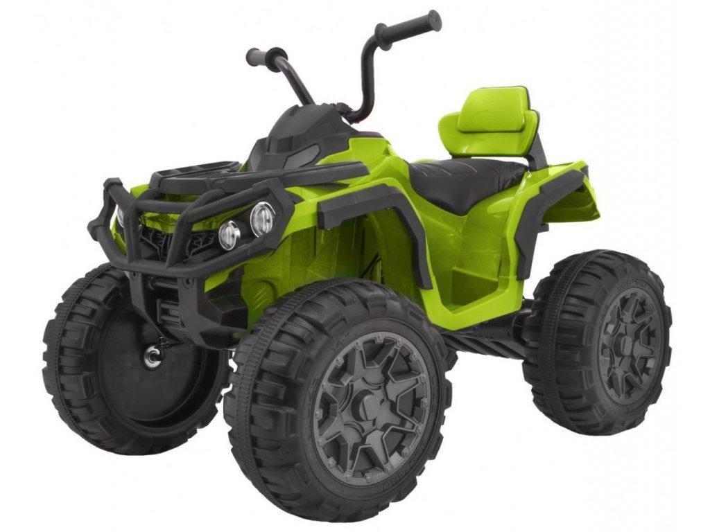 Elektrická čtyřkolka ATV s ovládačem, EVA kola zelená