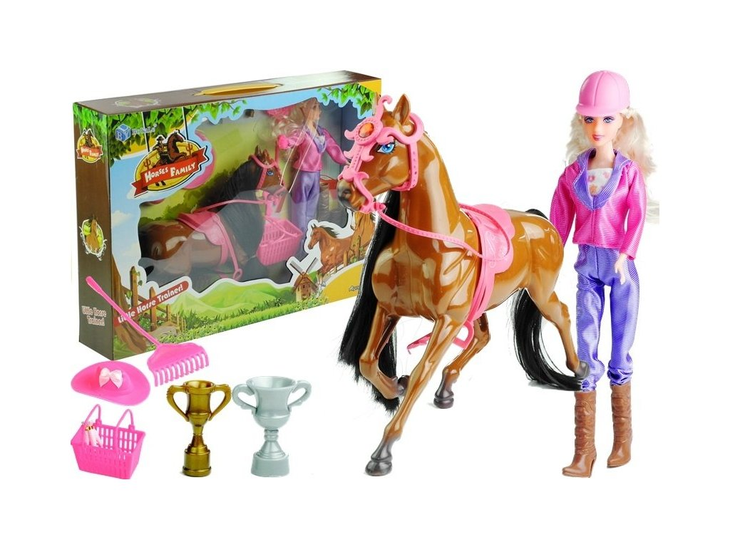 Sada panenka, kůň a doplňky