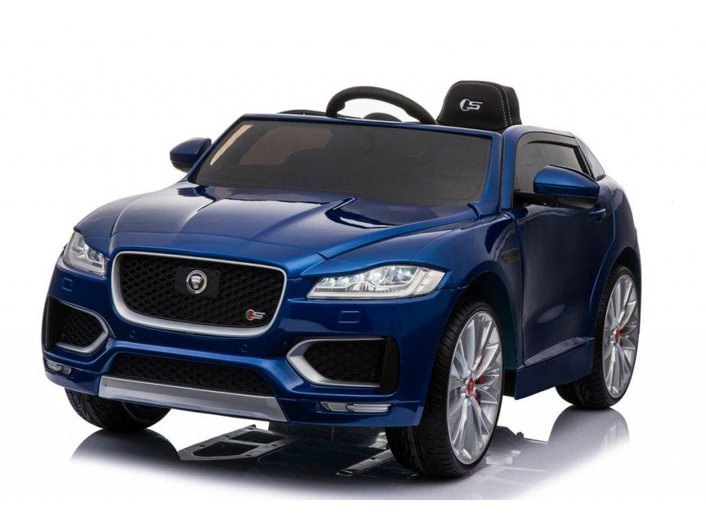 Elektrické autíčko Jaguar F-Pace lakovaná modrá