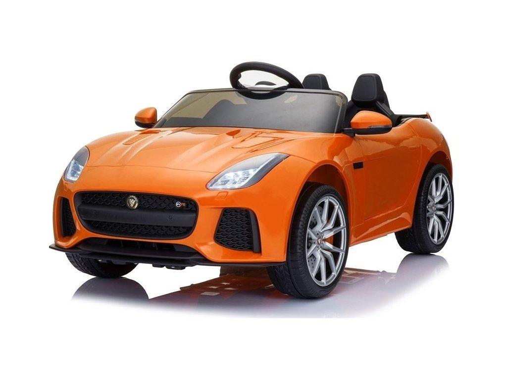 Elektrické autíčko Jaguar F-Type oranžové
