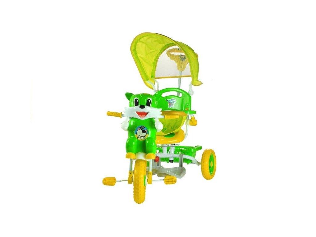 Dětská tříkolka kočka zelená
