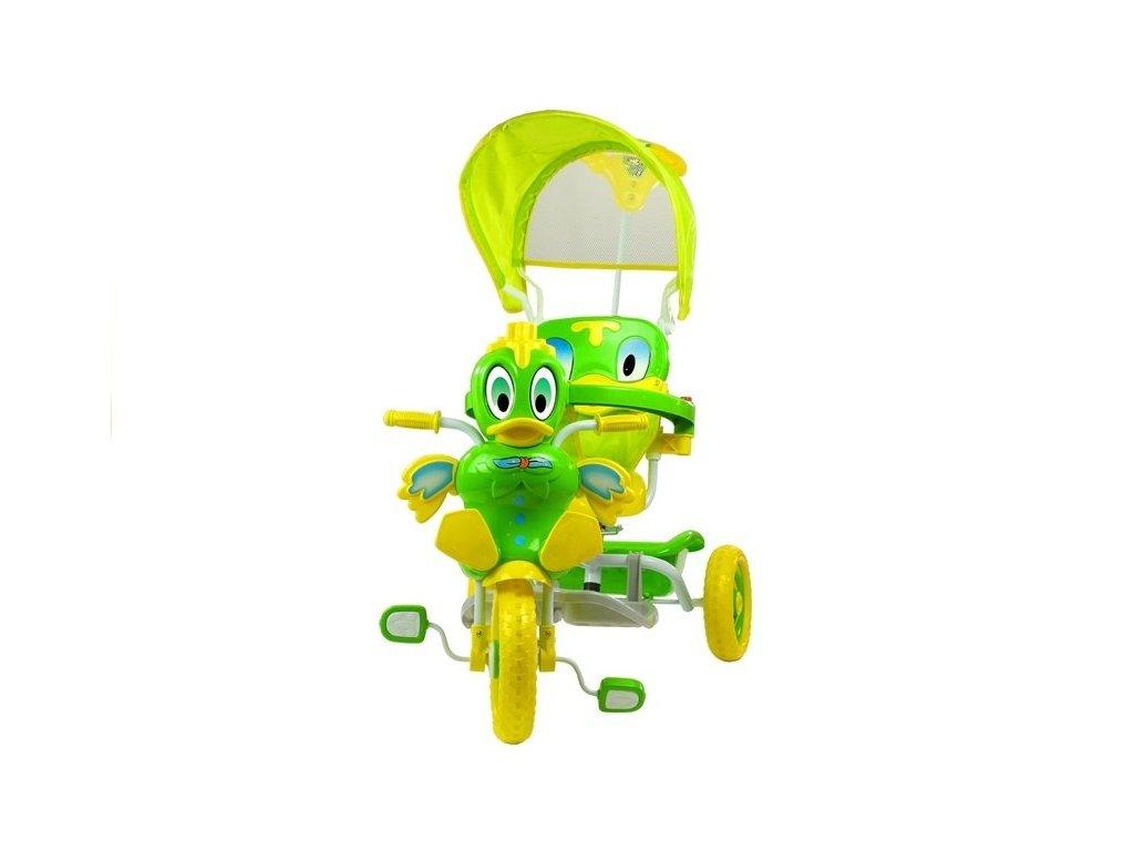 Dětská tříkolka kačenka zelená