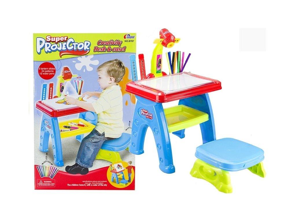 Kreslící stoleček s projektorem