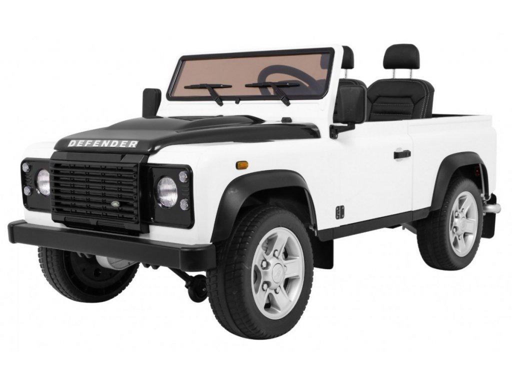 Dětské elektrické autíčko Land Rover DEFENDER bílé