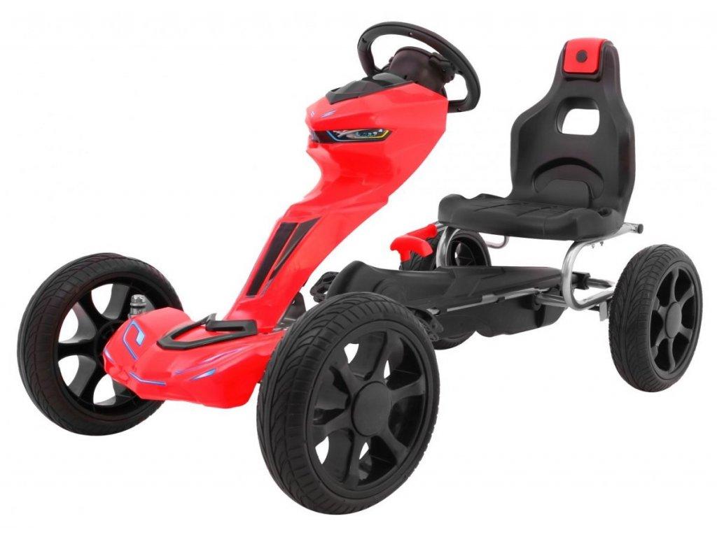 Dětská šlapací motokára Grand Ride červená