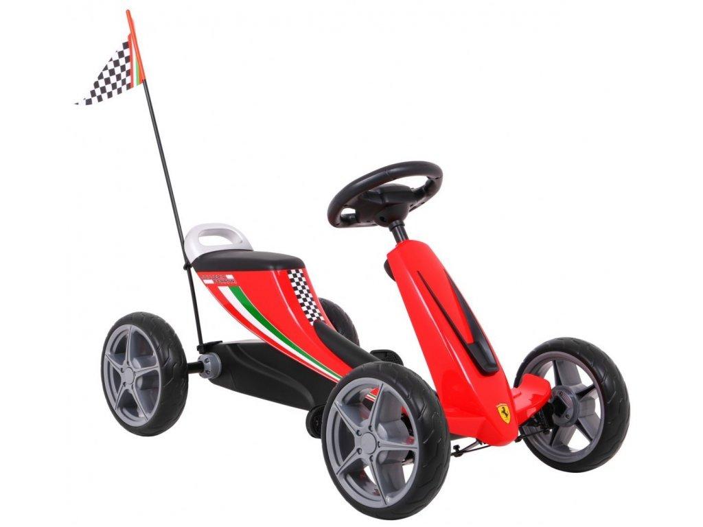 Dětská šlapací motokára Ferrari červené