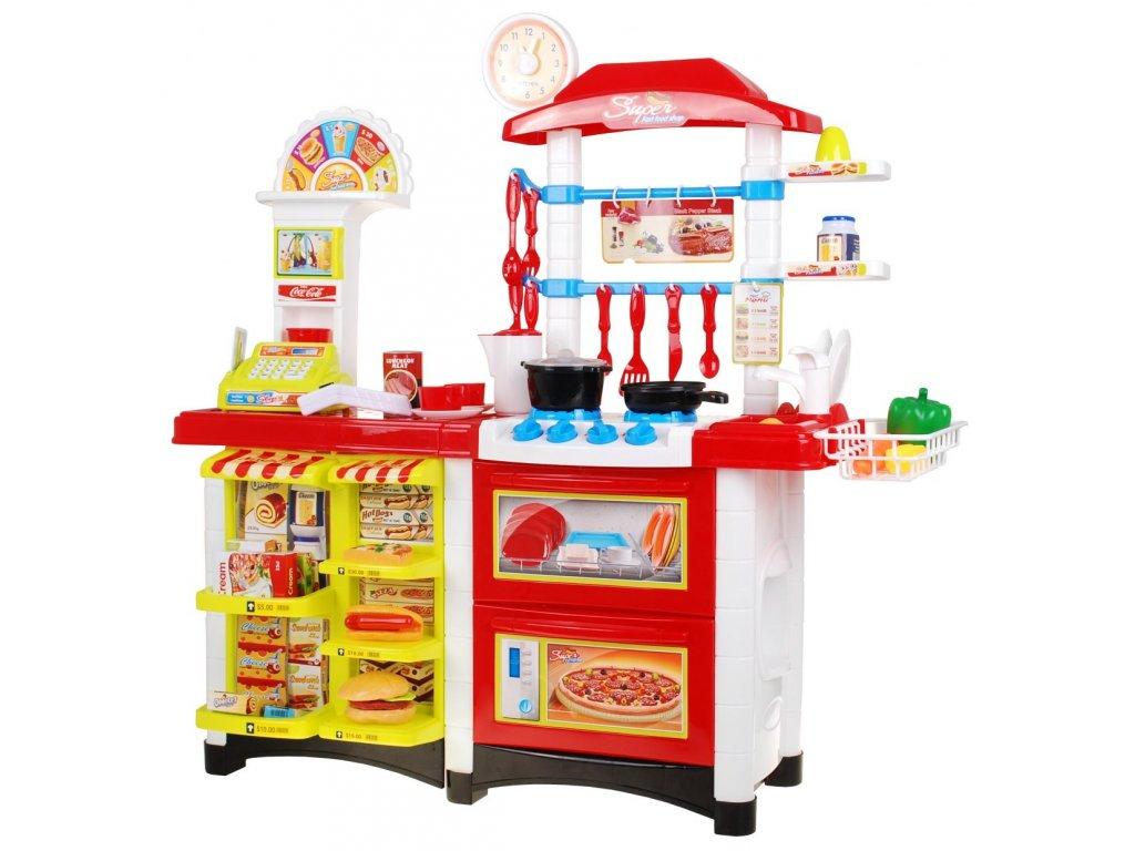 Dětská kuchyňka + supermarket