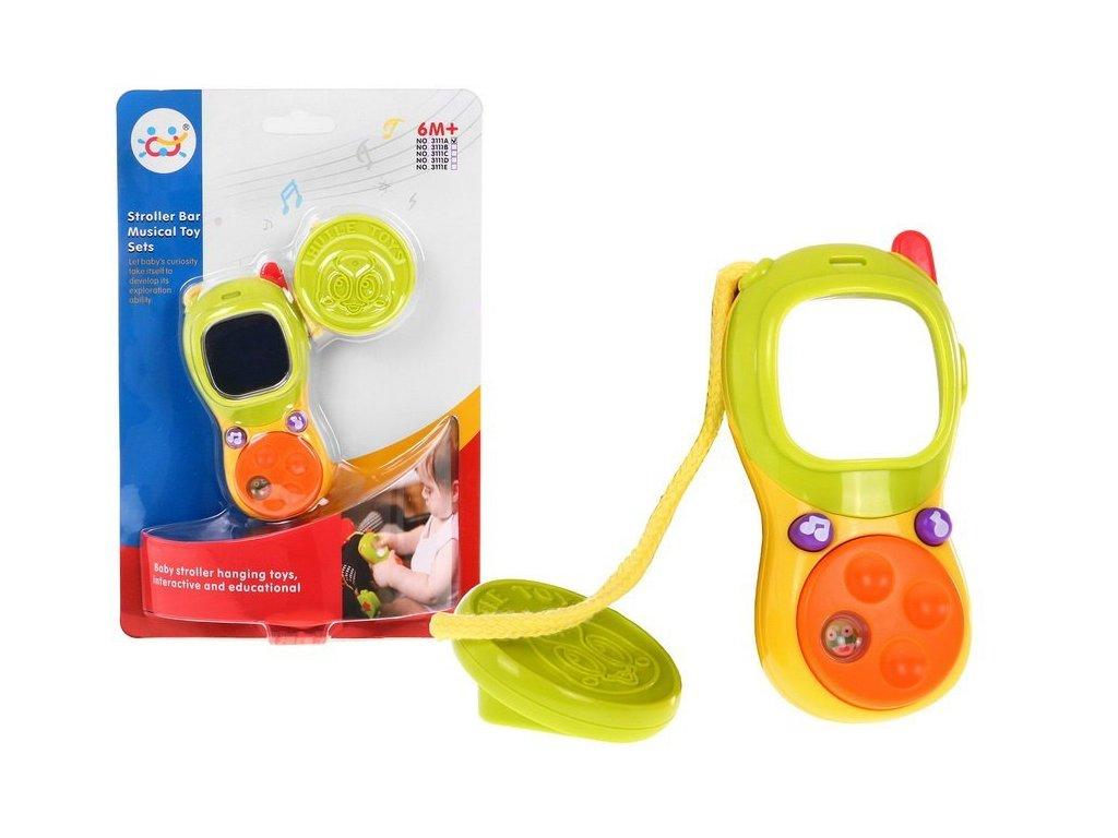 Interaktivní telefon se šterkátkem a zrcátkem Huile Toys