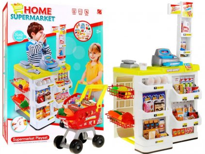 Dětský supermarket + nákupní vozík 1