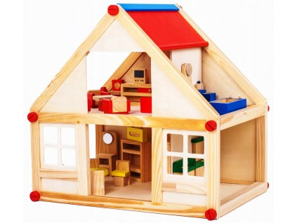 Dřevěný domeček pro panenky (1)