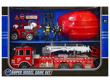 Velký požární vůz + přilba 10
