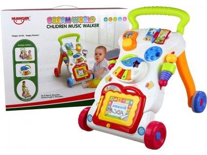 Dětské hudební chodítko 3v1