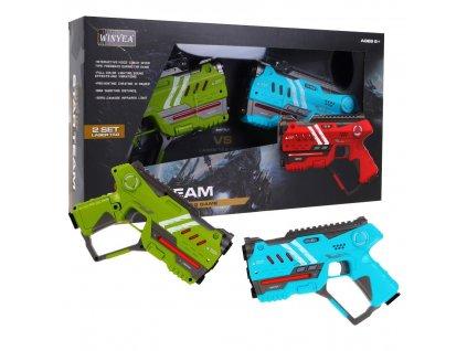 Laserové pistole zeleno - modré