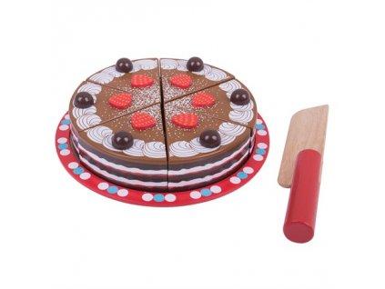 157469 bigjigs toys krajeci cokoladovy dort