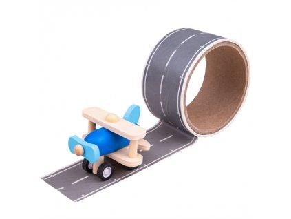 157328 bigjigs toys lepici paska runway s letadlem