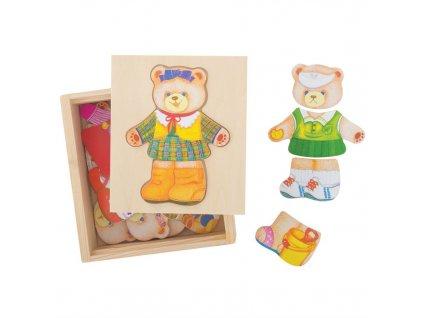 157439 bigjigs toys oblekaci puzzle pani medvedice