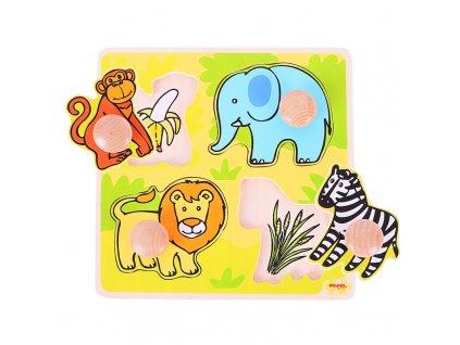 157430 bigjigs toys vkladaci puzzle safari
