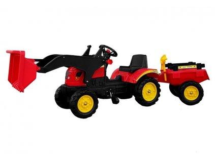 pol pl Traktor Herman z Przyczepa i Lyzka czerwony165 cm 5227 4