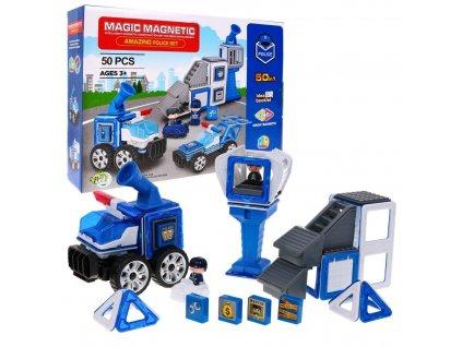 magnetické kostky magic policejní sada (3)
