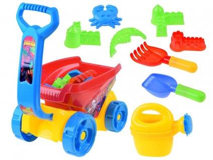 vozík s konvičkou a sadou na písek (3)