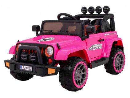 dětské elektrické autíčko full time růžové (14)