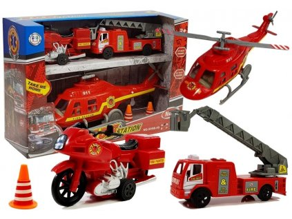 sada hasičských vozidel (6)